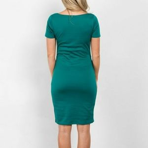 486cc5945635e Pinkblush Dresses - Emerald Green Fitted Maternity Dress Medium Easter
